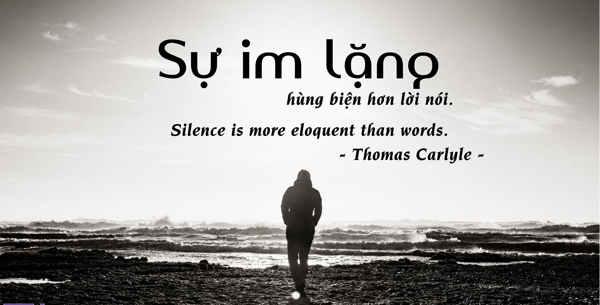 Sự im lặng hùng biện hơn lời nói